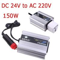 USB 24v dc to 24v dc adapter - 150W Watt Car Power Inverter Converter V to V DC V to AC V USB Adapter Portable Voltage Transformer Car Chargers K1327EU