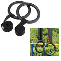 Wholesale Top Quality Nylon Portable Gymnastic Fitness Rings for Shoulder Strength Physical Muscle Training Gym Ring Crossfit H11098