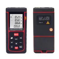 Wholesale RZE m ft Digital Laser Distance Meter Range Finder Measure Distance Area Volume with Bubble Level Measure Measurer H11357