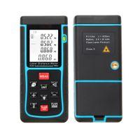 Wholesale RZE m ft Digital Laser Distance Meter Range Finder Measure Distance Area Volume with Bubble Level Measure Measurer H11360