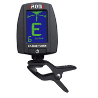 Wholesale 360 Degree Rotatable Clip Tuner Portable LCD Digital Clip on Electric Tuner Guitar Chromatic Bass Aroma AT B I351