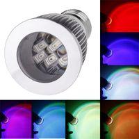Wholesale 16 RGB LED Colorful Bulb Light Lamp Spotlight Color Change with Remote Control SMD LED W E27 V Led Spot light H11172