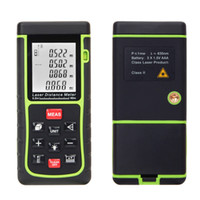 Wholesale RZE m ft Digital Laser Distance Meter Range Finder Measure Distance Area Volume With Bubble Level Measure Measurer H11355