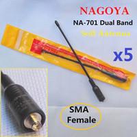 Wholesale 5pcs Brand New Nagoya NA Dual Band Antenna SMA F Female Soft Antenna For BAOFENG UV R BF S A5 HYT TC PUXING PX777 Radios