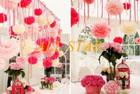 Wholesale Brand New cm inch Tissue Paper Pom Poms Wedding Party Decor Craft Paper Flowers Wedding F
