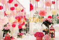 Wholesale Brand New cm inch Tissue Paper Pom Poms Wedding Party Decor Craft Paper Flowers Wedding F