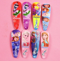 Cheap 100pcs Free shipping Hot popular 2016 new frozen girls hairpins children cartoon Barrettes hair accessories princess Elsa Anna hair clips