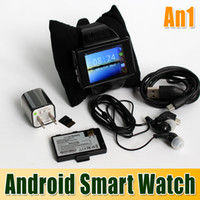 Wholesale AN1 Smart Watch Mobile Phone Capacitive Touch Screen MTK6515 Dual Core MB RAM GB ROM GPS WIFI MP Spy Camera