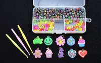 Wholesale Rainbow Loom Alphabet Beads S Clips C Clips Charms Hook Box Kit For Rainbow Loom Rubber Bands