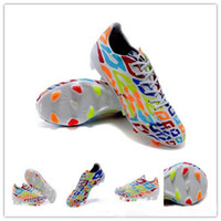 Wholesale Cheap Soccer Shoes Messi Birthday Rainbow Fashion Football Cleats Top World Cup Sports Ball Boots Athletics Shoes Mens Size Sports Shoes