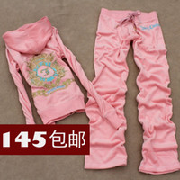 Wholesale new Spring Korean version of casual female sport velvet suit tracksuit women s jc piece sweater diamond