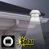 Wholesale Outdoor Solar Powered LED Cool White Warm White Light Fence Gutter Garden Yard Roof Wall Pathway Light Bulb lamp