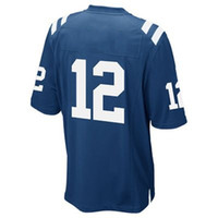 Wholesale #12 Andrew Luck Royal Blue 2014 Game Jersey Americ...