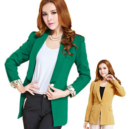 Wholesale 2014 new slim coat A button women shrug small suit long sleeved suit