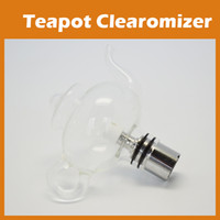 Glass wax pot - Teapot Vase Wax Glass Globe Tea Pot Tank Dry Herb Vaporizer for E go Ego T Ego C Ego W Thread Battery