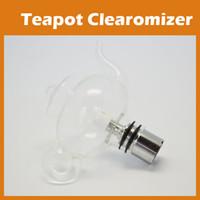 Wholesale Teapot Vase Wax Glass Globe Tea Pot Tank Dry Herb Vaporizer for E go Ego T Ego C Ego W Thread Battery