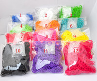 Rainbow loom A+++++ retail colorful OPP Wholesale Rainbow loom Rubbers Glitter Glow in the dark Metallic tie-dye Rubber bands (600bands+24pcs S C chips ) with retail opp package