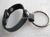 Steel cock ring leather - Sexy Male Use Leather Metal Cock Ring Penis Ring Sex Toy JD1060