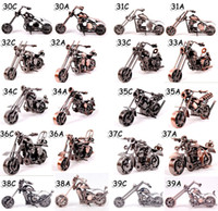 Motorcycle & Bicycle diecast cars - Motorcycle Iron Metal Car Model Diecast Boy Toys Vehicle Crafts Gifts Home Decoration HLM37A