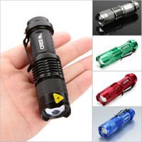 Wholesale Ultrafire CREE Q5 led flashlight sk68 LM W mini zoomable light mode waterproof glare torch AA battery