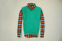 Men Pullover V-Neck 2014 New Arrival Man comfortable wool cashmere thermal yarn vest green