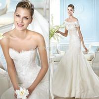Wholesale The new style Custom Made Designers Lace Mermaid Wedding Dress Plus Size vestido de noiva Weddings Gowns