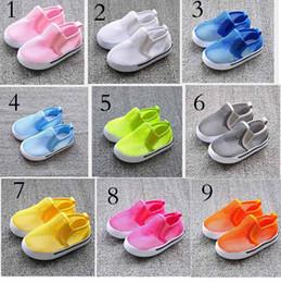 Wholesale 2014 New Fashion Neon Candy Color Children s Sandal Shoes Hollow Net Kids Boys Girls plimsolls