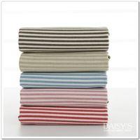 No Hemp Item Ju -cloth cotton and linen fabrics suitable for DIY handmade linen colored striped sofa linen curtains
