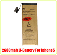 Wholesale For iphone G Li ion High Capacity Gold Battery mAH V Flex cable Replacement Repair Parts iphone5 Cell Phone Batteries DHL