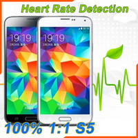 Wholesale New Heart Rate Detection S5 Android i9600 Phone G WCDMA G RAM MTK6582 Quad Core Air Gesture Eyeball Function with S4