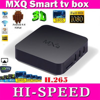 Wholesale Presell New MXQ android amlogic s805 quad core GB Ram GB ROM XBMC WIFI LAN Airplay miracast D H smart google tv box