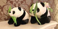 White big panda bears - 55CM large squat panda doll super mario plush toy stuffed animals stuffed big teddy bear panda