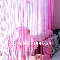 Wholesale Tassel Fringe Light Rose Red Thick Twisted String Door Curtain Panel L100cm H198cm