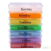 Pill Cases & Splitters OEM NO Medicine Weekly Storage Pill 7 Day Tablet Sorter Box Container Case Organizer Health Care