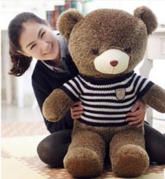 Wholesale Cute Hedgehogs Doll - Cute teddy bear hug sweater panda doll hedgehog plush teddy bear doll large 60CM 80CM 1M 1.2M 1.4M 1.6M
