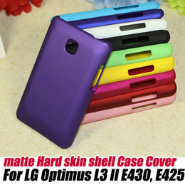 Wholesale Lg Optimus L3 Blue - Ultra Thin Strong Rubber Matte Hard Case Cover for LG Optimus L3 II E430, E425+screen protector, free shipping