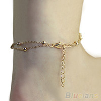 Trendy Women Fashion Fashion Sexy Double Chain Anklet Bracelet Ankle Chain Hand Chain Foot Jewelry Barefoot Beach