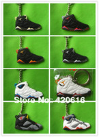 Wholesale Air Jordan VII AJ7 VIII AJ8 IX AJ9 Generation Men s Sneaker Shoes PVC Rubber D Ring Keychain Gift
