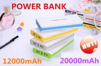 Wholesale power bank mAh mAh Colorful Universal Power Bank External Battery Backup USB Portable Cell Phone Chargers