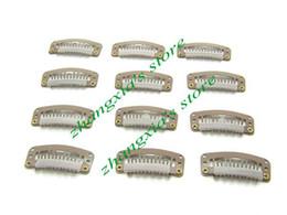 3.2cm 6 Teeth Hair Clips for Hair Extensions,Toupees Clips,Wig Clips,Hair Extensions Tools,Light Brown,100pcs,Free Shipping