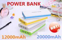 Wholesale power bank mAh mAh Colorful Universal Power Bank External Battery Backup USB Portable Cell Phone Chargers free ups02