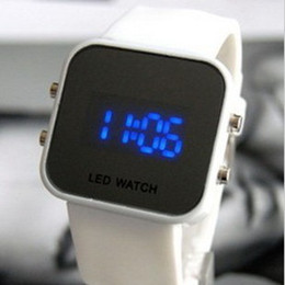 Wholesale Fashion personality mirror blu ray table led watch electronic watch lovers table male women s fashion watch