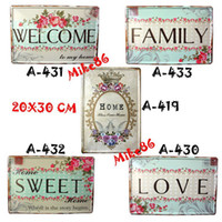 iron metal decor - Mike86 Vintage House Metal Signs Decor Wall art decor HOT House Cafe Bar Antique Tin Sign RA Mix order CM