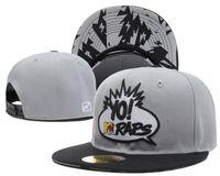 Wholesale The Yo MTV Rap Logo SNAPBACKS Snapback Baseball Cap Custom Snapbacks Hats Unisex Multi Color Choose High Quality Good Price