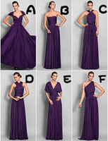 Reference Images lace  Ruffle 2014 A-line long chiffon Sheath Column Floor-length Jersey Convertible bridesmaid Dresses new design cheap hot sale high quality