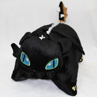 Wholesale 201407y02 Dragon pillow Dragon night fury fearsome all black blue dragon doll pillow