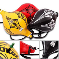 Punching Bags&Sand Bag ball punch - New Double End MMA Boxing Training Punching Bag Speed Ball Black