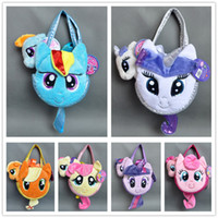 Wholesale My little pony Plush Toy Rainbow Dash Rarity Twilight Sparkle Applejack Fluttershy Pinkie Pie w Pet Carrier PLUSH Hand Bag quot