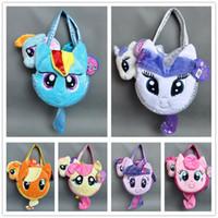 applejack pony - My little pony Plush Toy Rainbow Dash Rarity Twilight Sparkle Applejack Fluttershy Pinkie Pie w Pet Carrier PLUSH Hand Bag quot