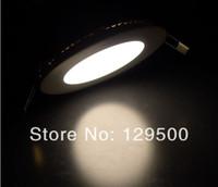 LED 85-265V Downlights 2pcs Lot 8W 750lm Led Round ceiling Lights AC85V-265V Led Panel Light Lamp Suitable for Kitchen Bathroom Bedroom Corridor